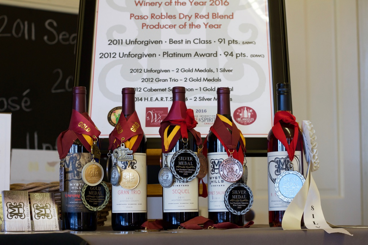 Award Winning Paso Robles and Monterey County Wines